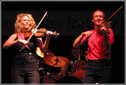 Donnell Leahy and Natalie MacMaster at Milwaukee Irish Fest - August 15, 2009