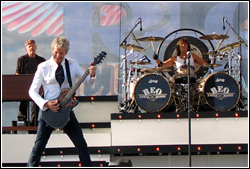 REO Speedwagon at the Waukesha County Fair - July 19, 2009.  Photo by Peter Moriarty.