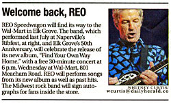 REO newspaper article