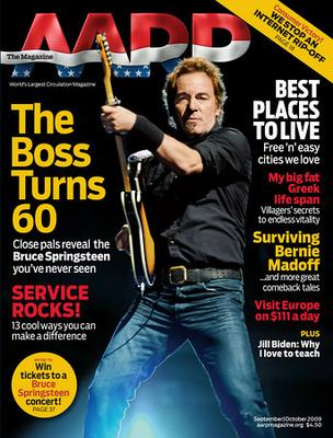 Bruce Springsteen on AARP cover