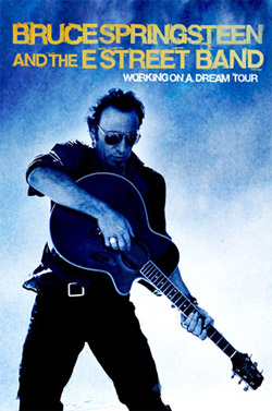 Bruce Springsteen tour poster for Chicago